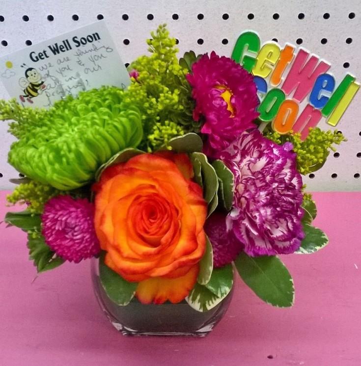 'Get Well Soon' from Wilma's Flowers in Jasper, AL