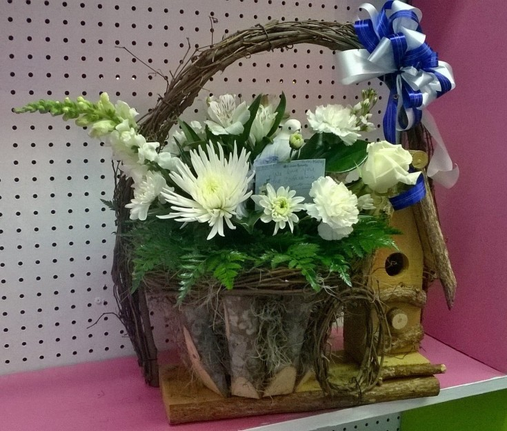 Gorgeous arrangement from Wilma's Flowers in Jasper, AL
