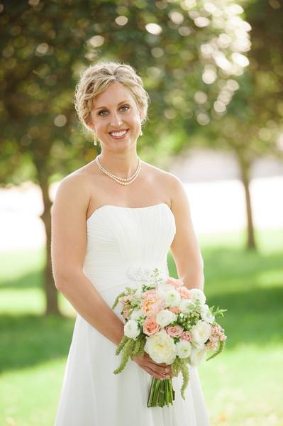 Gorgeous bouquet and bride from The Petal Patch, Ltd. in McFarland, WI