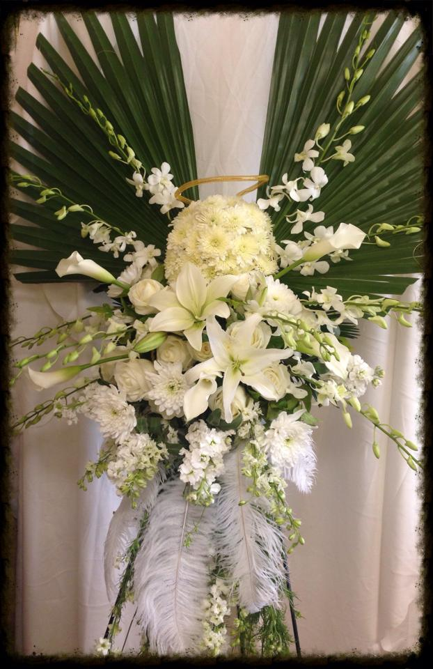 Gorgeous sympathy piece by Debbie Wright of Enchanted Florist of Pasadena in Pasadena, TX
