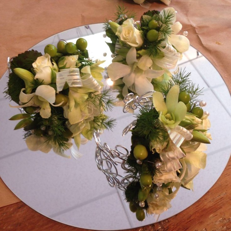 Gorgeous wedding corsages from Petals in Thyme in Wasaga Beach, ON