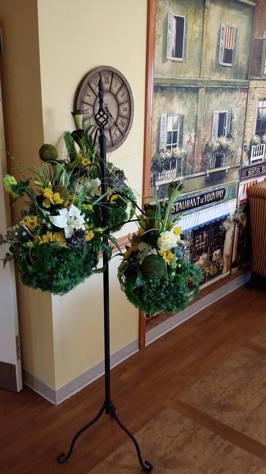 Greeting door arrangement from BlueShores Flowers & Gifts in Wasaga Beach, ON