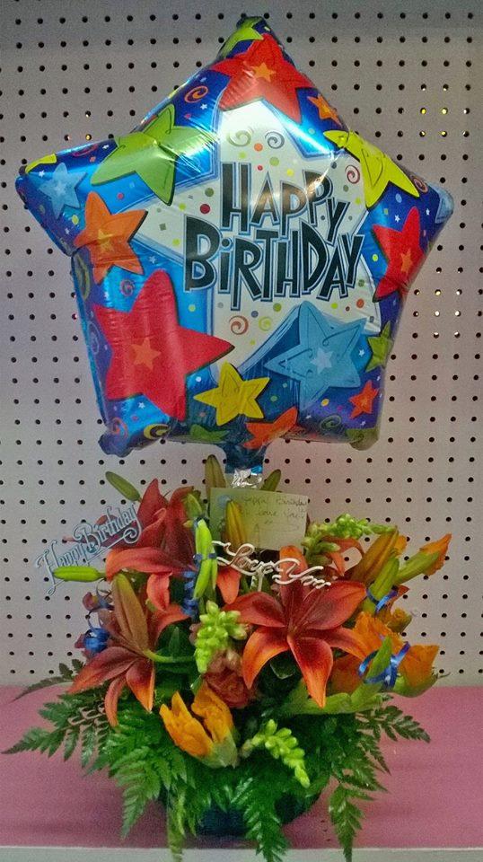 'Happy Birthday' from Wilma's Flowers in Jasper, AL