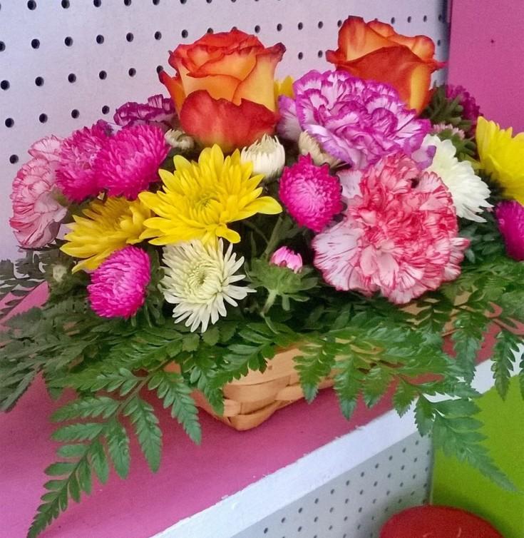 Lovely floral basket from Wilma's Flowers in Jasper, AL