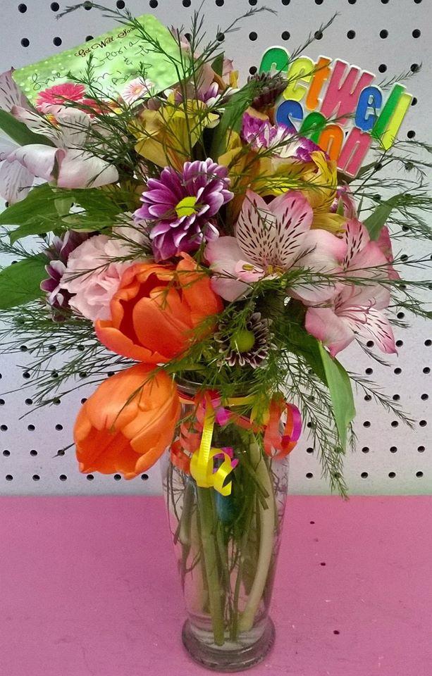 Lovely 'Get Well' flowers from Wilma's Flowers in Jasper, AL