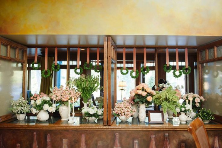 Magnificent reception flowers from The Petal Patch, Ltd. in McFarland, WI