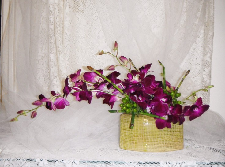 Orchid art from Crow River Floral and Gifts in Hutchinson, MN