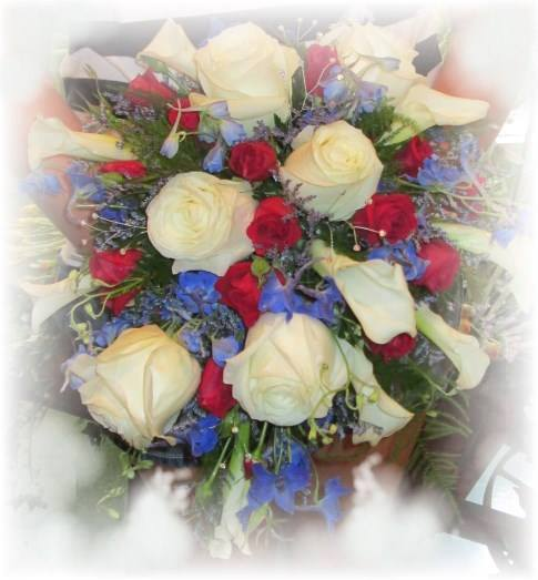 Patriotic bridal bouquet from Inspirations Floral Studio in Lock Haven, PA