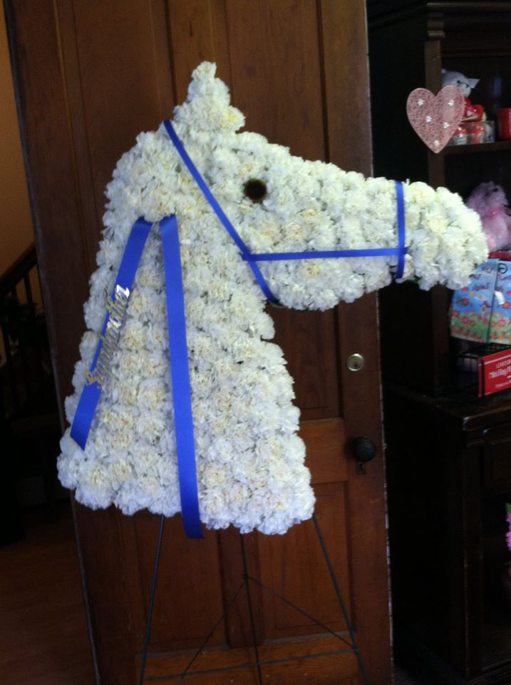 Personalized floral tribute from Baker Florist & Gifts in Spencer, NY