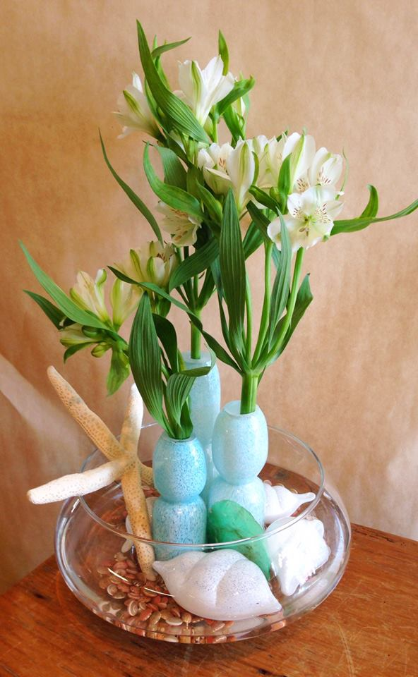 Pure beauty using locally blown glass at Petals in Thyme of Wasaga Beach, ON