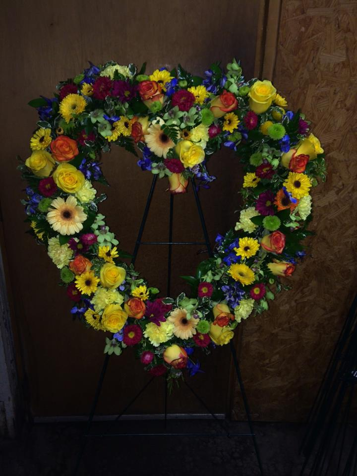 Sympathy heart from Expressions Flowers, LLC in Fort Smith, AR