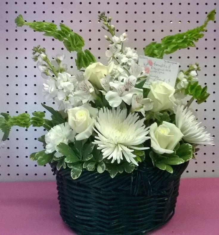 Sympathy piece from Wilma's Flowers in Jasper, AL