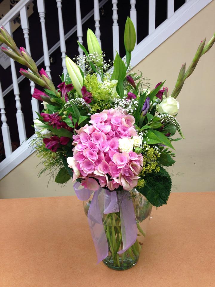 Using butterfly hydrangea at Oak Bay Flower Shop Ltd. in Victoria, BC