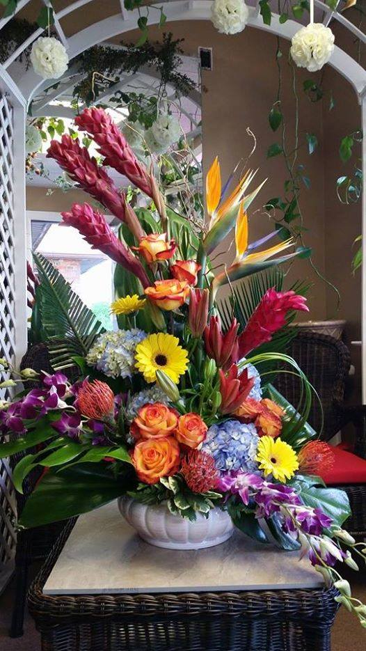 A magnificent explosion of color from Flower Boutique in Cherry Hill, NJ