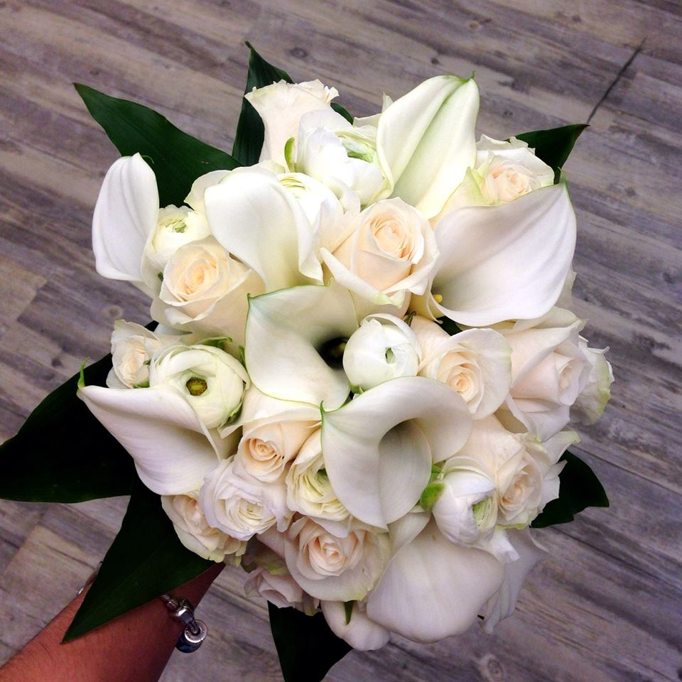 Friday florist recap 823 829 labor day weekend floral extravaganza an elegant white wedding bouquet from petals in thyme of wasaga beach on mightylinksfo