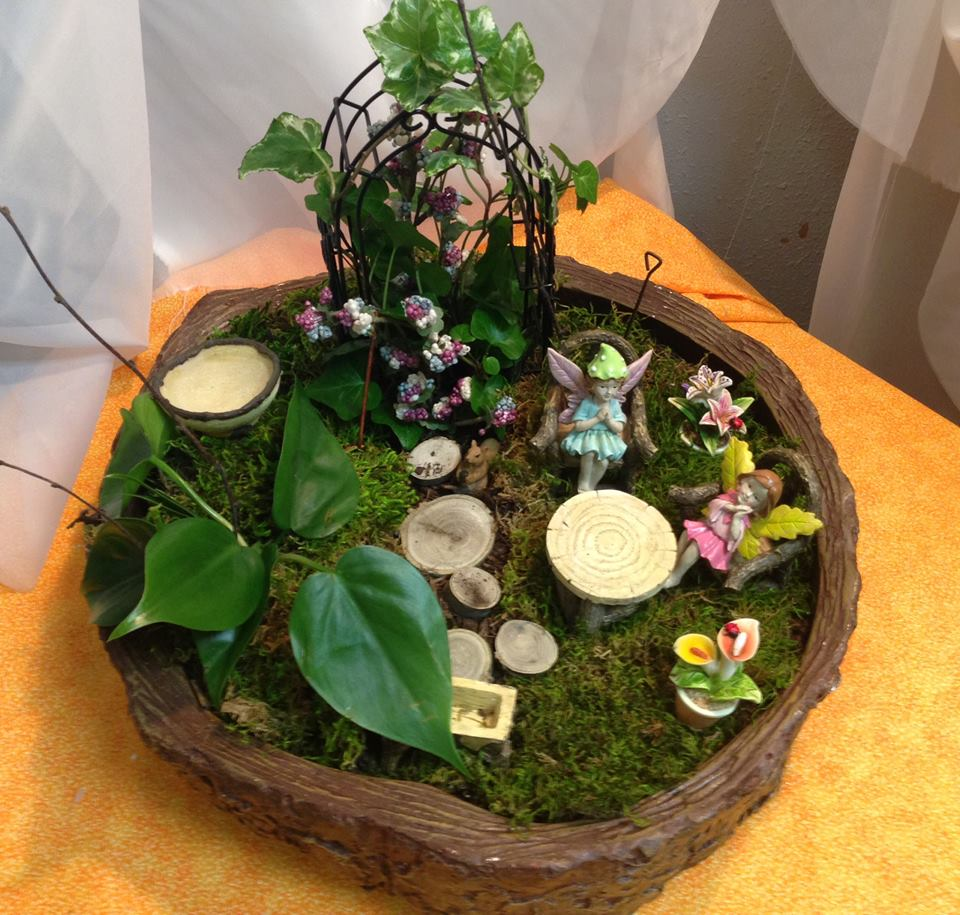 Another amazing fairy garden from Michele's Floral and Gifts in Copperas Cove, TX