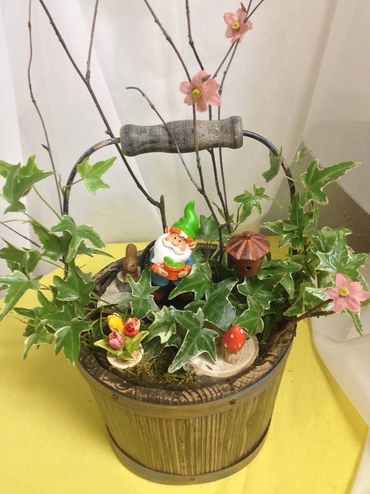 Beautiful fairy garden from Michele's Floral and Gifts in Copperas Cove, TX