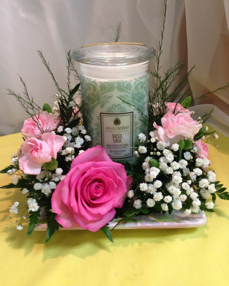 Combining a gift with flowers at Michele's Floral and Gifts in Copperas Cove, TX