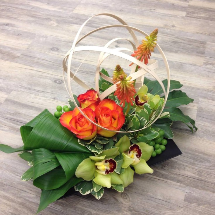 Gorgeous arrangement from Petals in Thyme of Wasaga Beach, ON