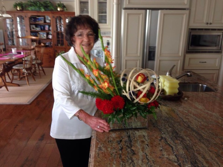 Happy client at Petals in Thyme of Wasaga Beach, ON