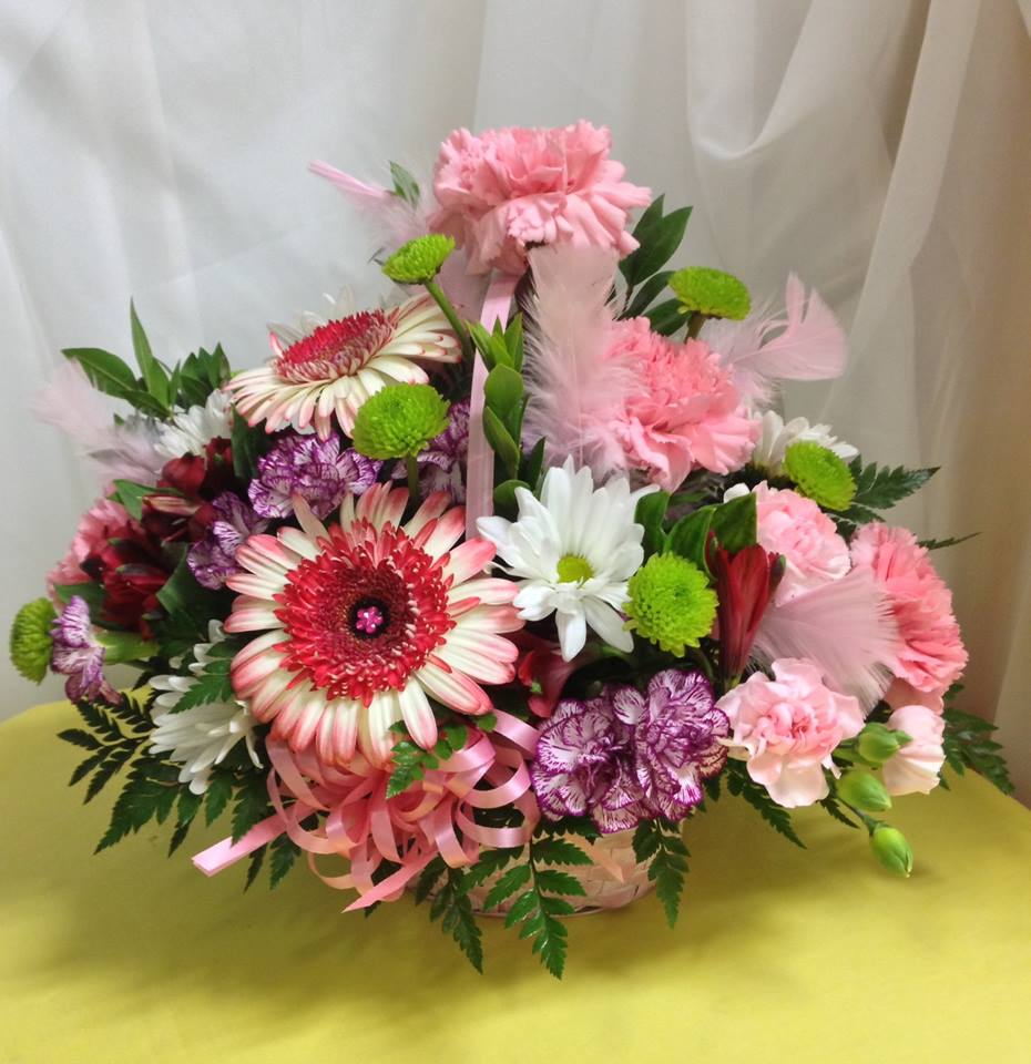 Pinks and feathers from Michele's Floral and Gifts in Copperas Cove, TX