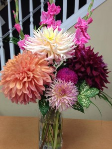 Some dinner plate dahlias from Oak Bay Flower Shop in Victoria, BC