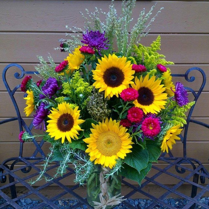 A beautiful tribute from Auburn Country Florist in Grass Valley, CA