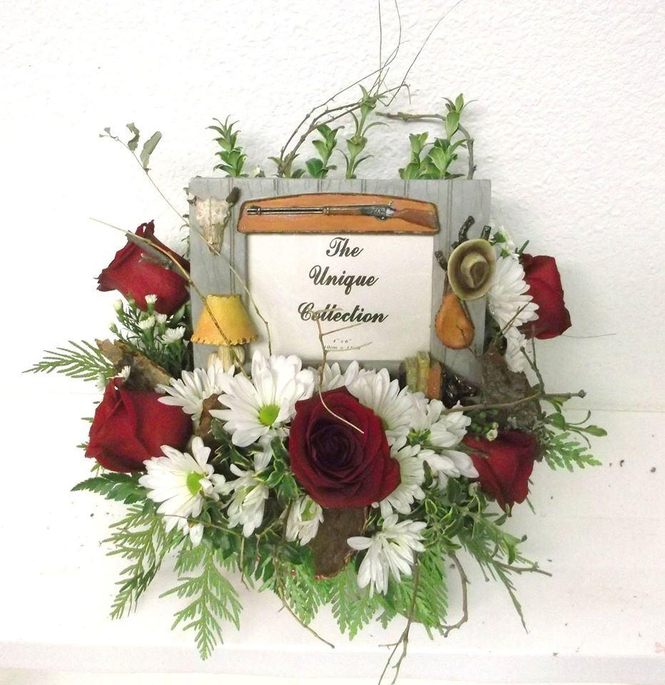 A popular order customized with a photo frame from A-1 Flowers & More in Cottonwood, ID