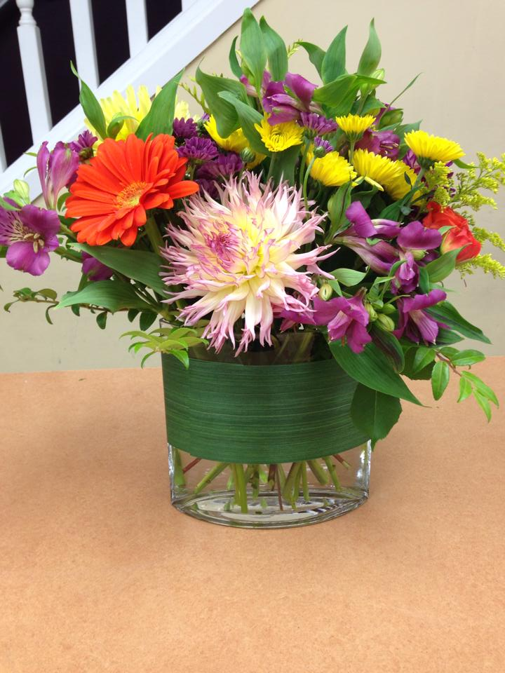 A splash of color from Oak Bay Flower Shop Ltd. in Victoria, BC