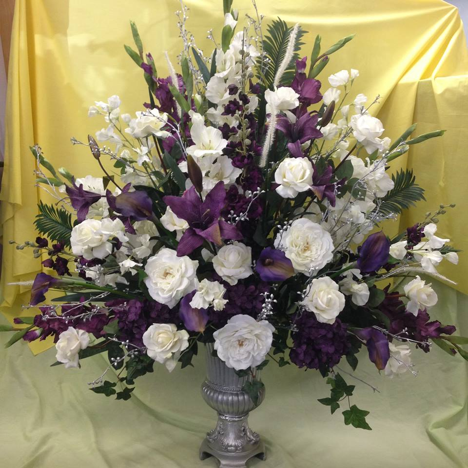 Purple Silk Floral Arrangements Jonathan Steele