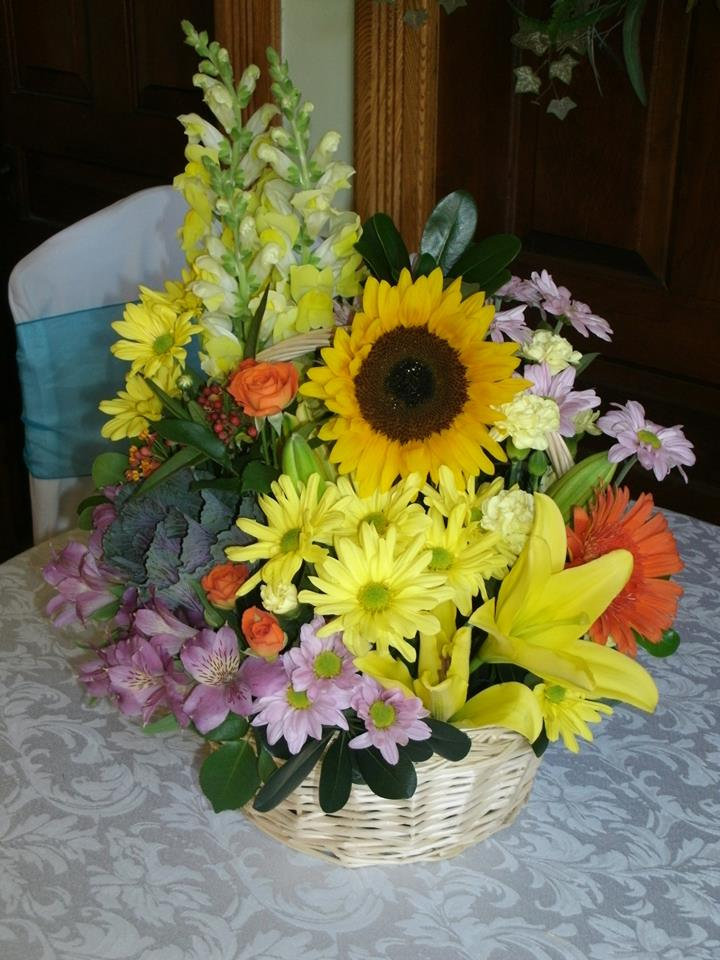 Gorgeous basket arrangement from Flowers For You, By Diana in Beeton, ON