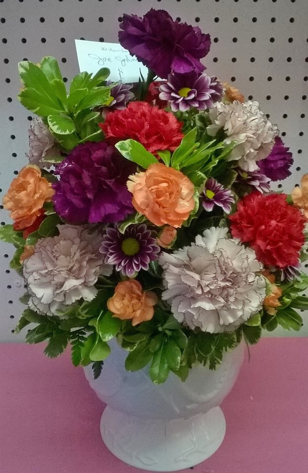 Very pretty arrangement from Wilma's Flowers in Jasper, AL