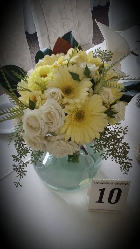 A beautiful bridal bouquet from BlueShores Flowers & Gifts in Wasaga Beach, ON