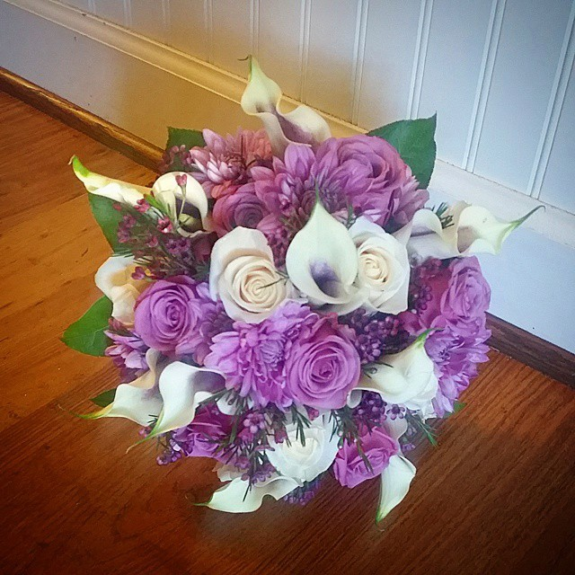 Amazing bouquet using Picasso calla lilies from Blue Iris Flowers in Catonsville, MD