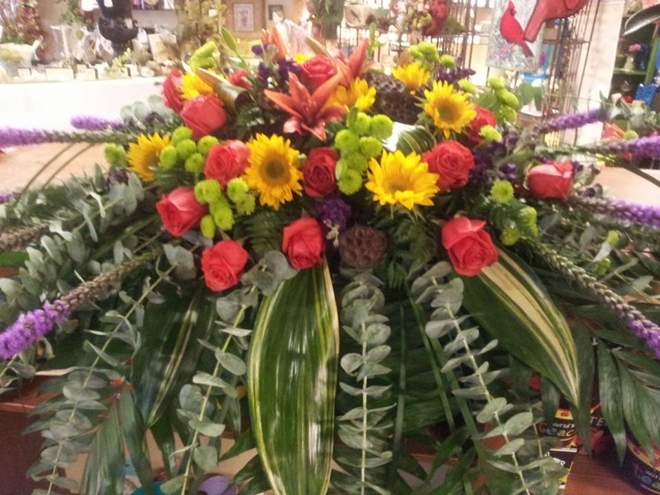 Another impressive sympathy spray from Forget-Me-Not Flowers and Gifts in Chandler, TX