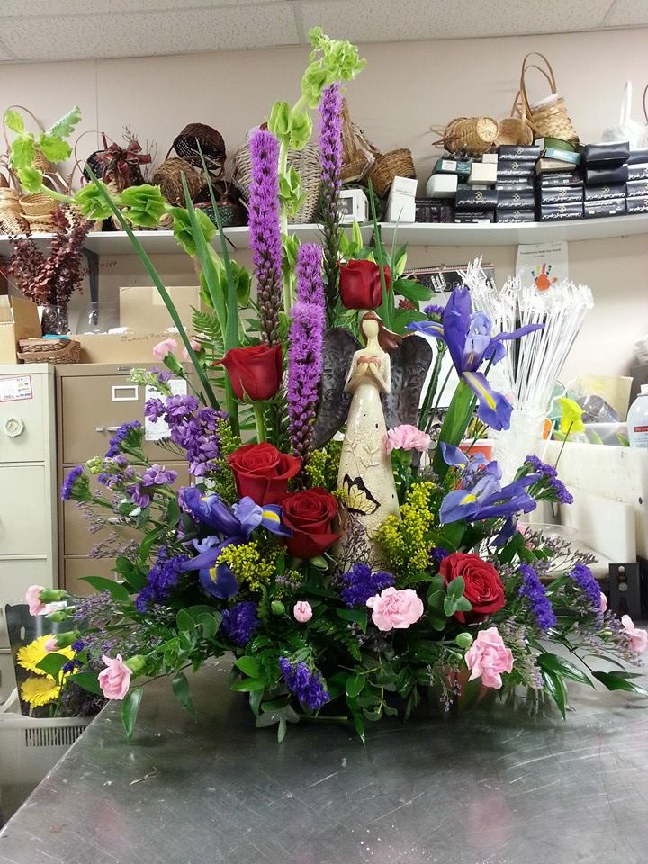 Beautiful sympathy piece from Bud's In Bloom Floral & Gift in New Albany, IN