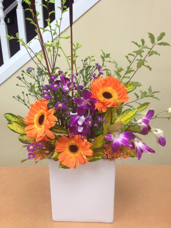 Brilliant colors from Oak Bay Flower Shop Ltd. in Victoria, BC