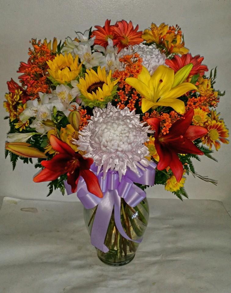 Colorful arrangement from Artistic East Orlando Florist in Orlando, FL