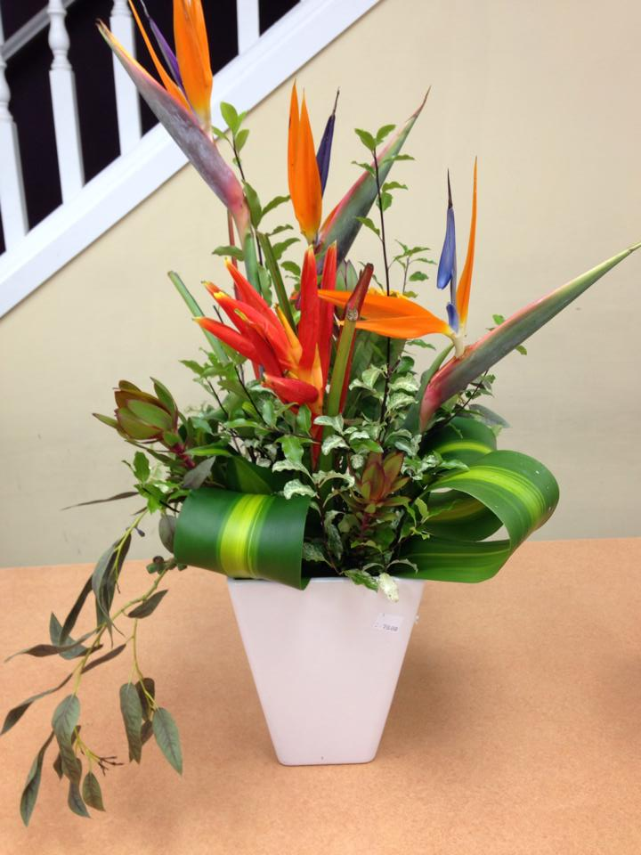 Colorful arrangement from Oak Bay Flower Shop Ltd. in Victoria, BC