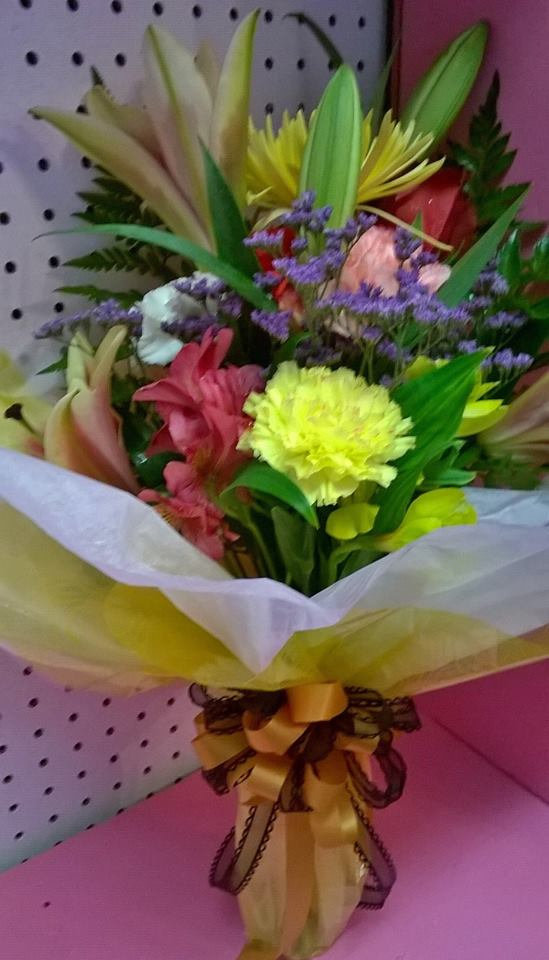 Colorful arrangement from Wilma's Flowers in Jasper, AL
