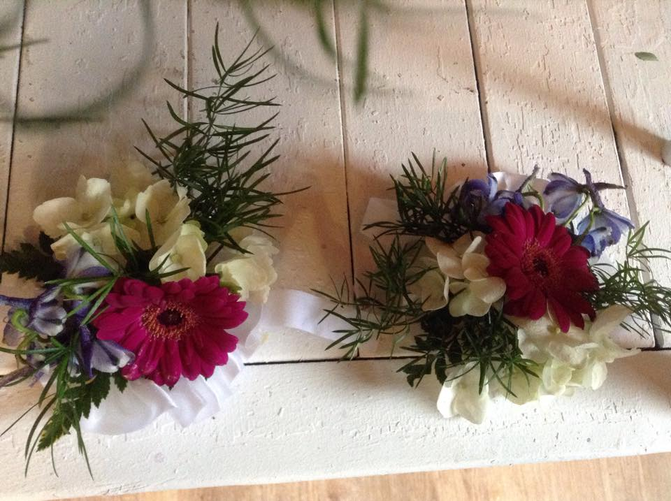 Corsages from Sweet Briar Flower Shop in Galway, NY