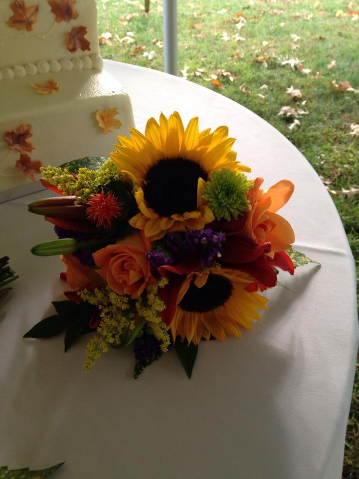 Fall wedding bouquet from River Birch Florist in Locust Hill, VA