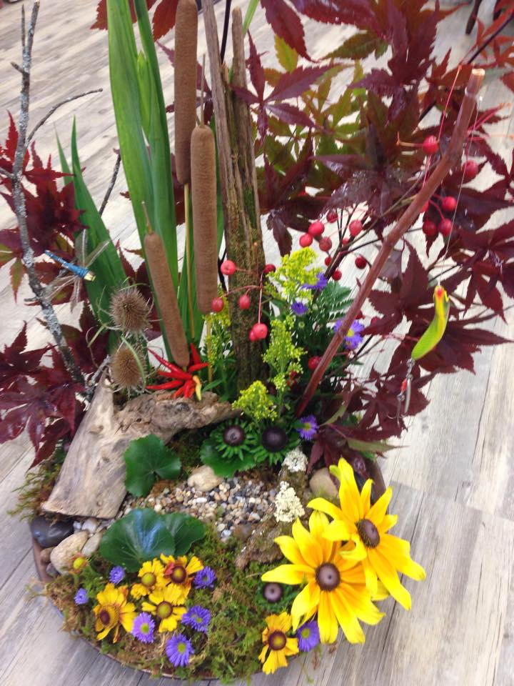 Funeral tribute for an outdoorsman from Petals in Thyme of Wasaga Beach, ON