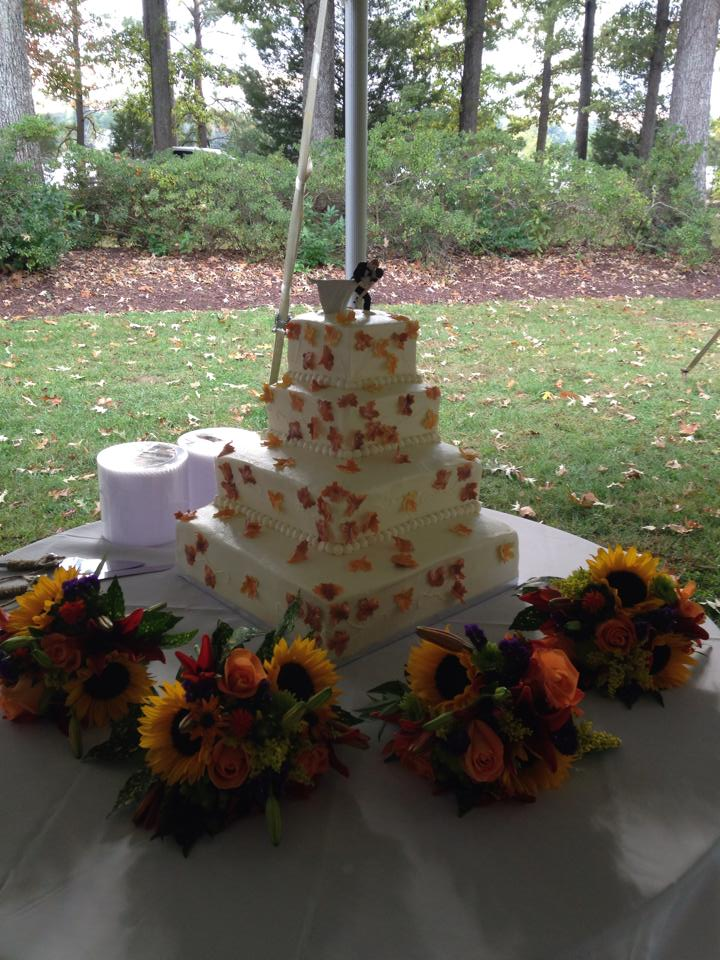 Gorgeous arrangements for a fall wedding by River Birch Florist in Locust Hill, VA