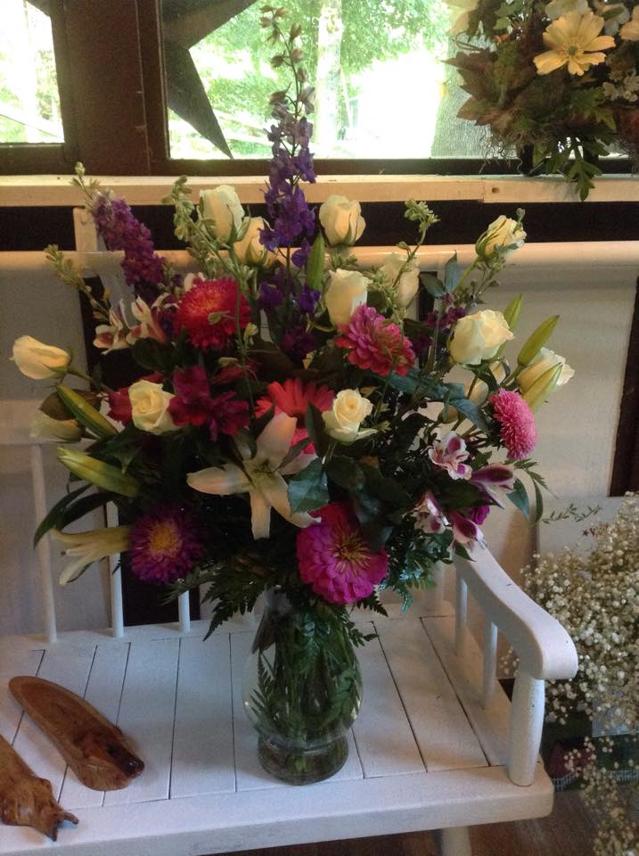 Gorgeous sympathy piece from Sweet Briar Flower Shop in Galway, NY