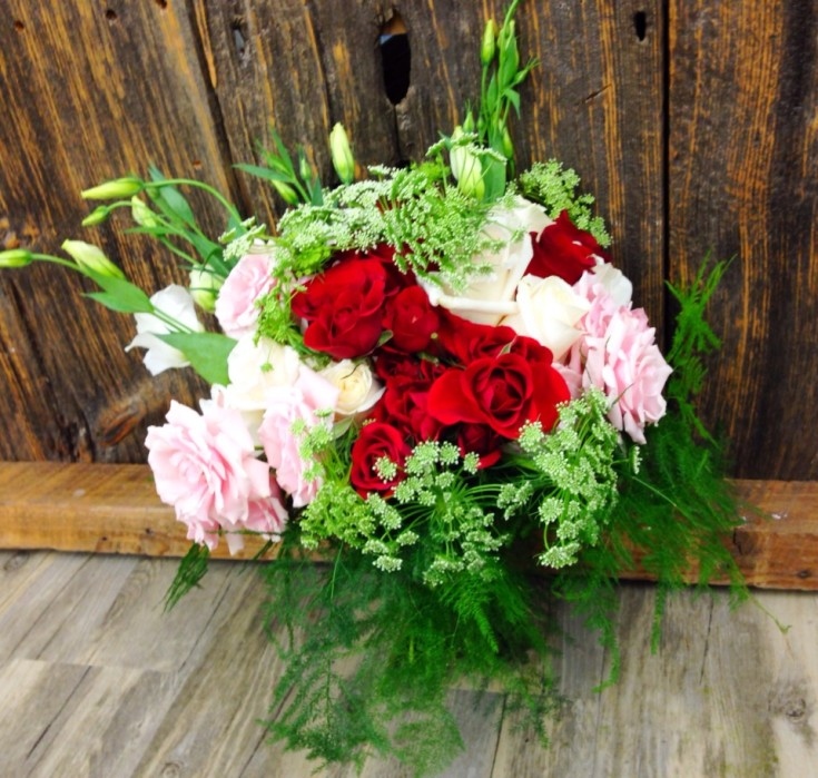 Gorgeous wedding bouquet from Petals in Thyme of Wasaga Beach, ON