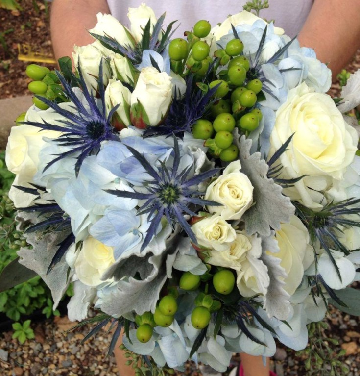 Gorgeous wedding bouquet from River Birch Florist in Locust Hill, VA