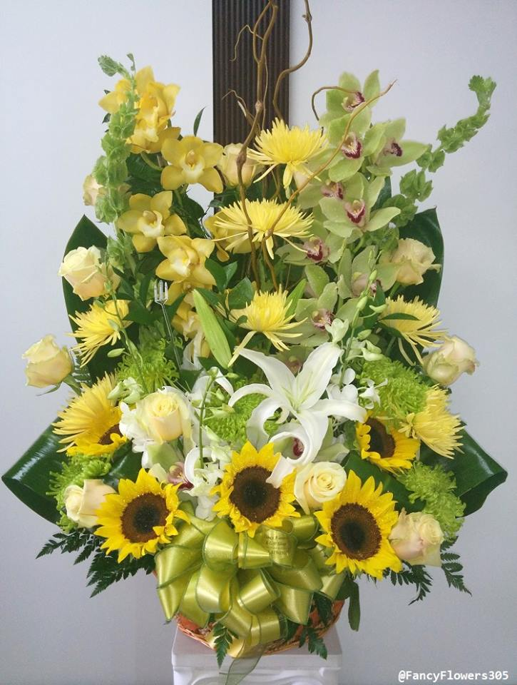 Green and yellow with Fancy Flowers & Gift Shop in Hialeah, FL