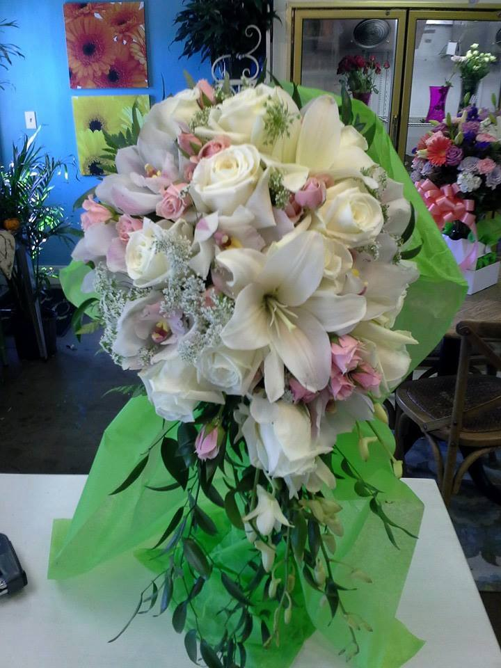 Impressive wedding bouquet from Always Something Special Florist in Bayville, NJK