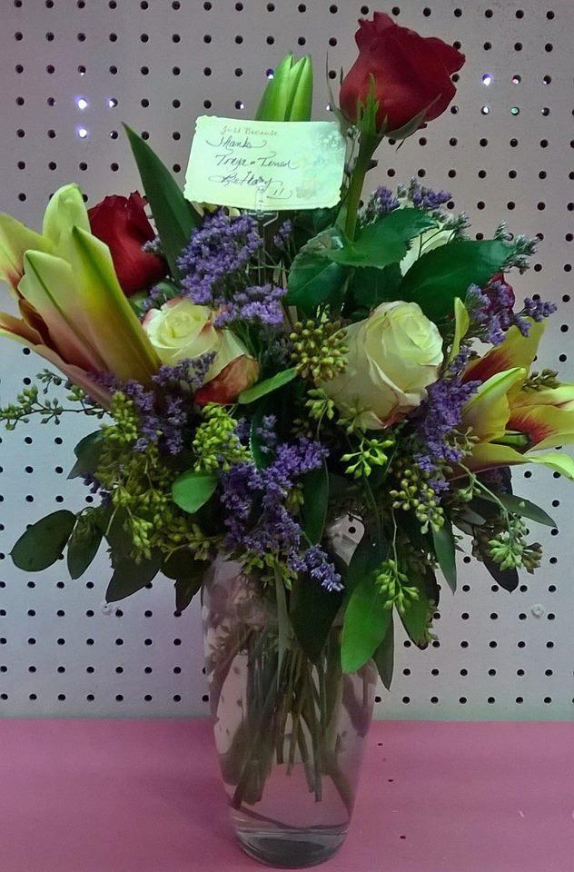Lovely arrangement from Wilma's Flowers in Jasper, AL